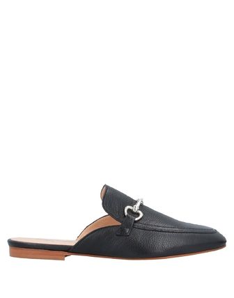 Round Toe Casual Style Street Style Plain Leather Mules