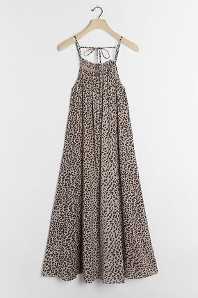 Leopard Patterns Casual Style Medium Party Style