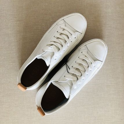 Massimo Dutti Leather Low-Top Sneakers