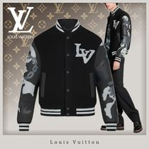 Louis Vuitton Camouflage Wool Street Style Bi-color Chain Logo Military
