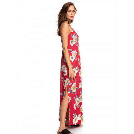 ROXY Wrap Dresses Flower Patterns Tropical Patterns Casual Style