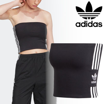 adidas Logo Casual Style Cotton Street Style Tops