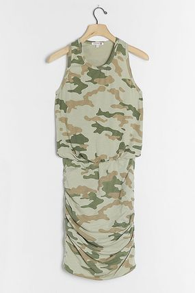 Short Camouflage Casual Style Dresses