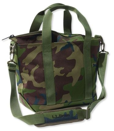 Camouflage Casual Style Nylon A4 Crossbody Logo Totes
