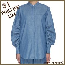 3.1 Phillip Lim Casual Style Plain Puff Sleeves Shirts & Blouses
