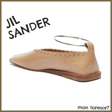 Jil Sander Square Toe Casual Style Plain Leather Office Style