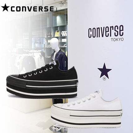 CONVERSE ALL STAR Casual Style Street Style Logo Low-Top Sneakers