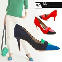 Boden Casual Style Suede Bi-color Plain Pin Heels Party Style