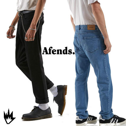 AFENDS More Jeans Street Style Plain Cotton Logo Jeans