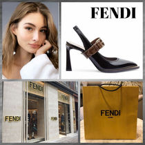 FENDI Casual Style Leather Party Style Office Style Elegant Style
