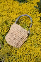 Rouje Flower Patterns Blended Fabrics Straw Bags