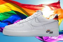 Nike AIR FORCE 1 Unisex Street Style Leather Sneakers