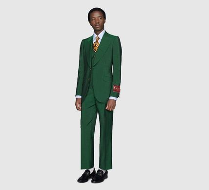GUCCI Tapered Pants Wool Blended Fabrics Plain Tapered Pants