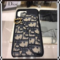 Christian Dior Unisex Street Style Leather Logo iPhone 11 Pro