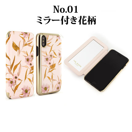Flower Patterns Unisex Street Style Plain iPhone 8