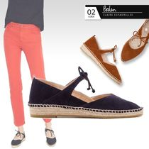 Boden Round Toe Casual Style Suede Bi-color Plain Elegant Style