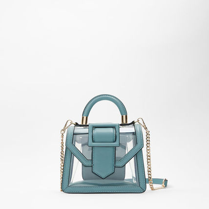 Casual Style Party Style Crystal Clear Bags Elegant Style