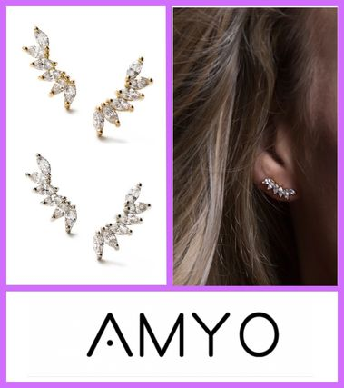 AMY O Earrings Casual Style Party Style Office Style Elegant Style