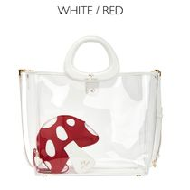 Katy Perry Casual Style Street Style A4 2WAY Plain Crystal Clear Bags