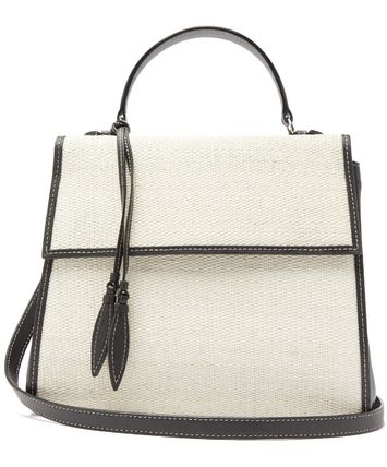 Canvas 2WAY Plain Leather Crossbody Shoulder Bags