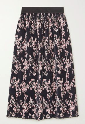 Flared Skirts Flower Patterns Casual Style Elegant Style