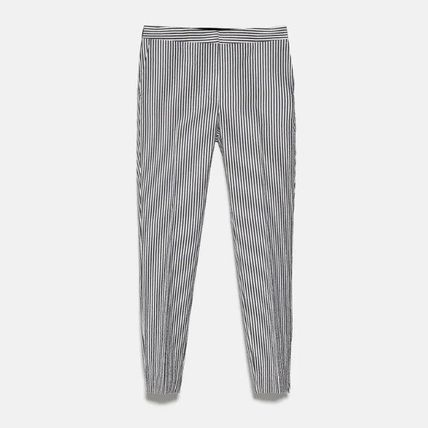 ZARA Stripes Long Office Style Formal Style  Skinny Pants