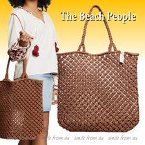 The Beach People Casual Style Unisex Street Style A4 Totes