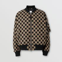 Burberry Other Plaid Patterns Wool Street Style MA-1 Bomber Jackets