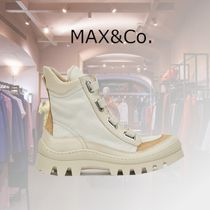Max&Co. Wedge Casual Style Plain Wedge Boots