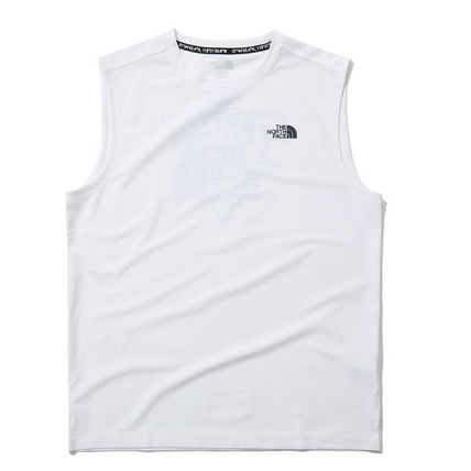 THE NORTH FACE Tanks Street Style Logo Outdoor Tanks 2