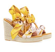 TED BAKER Flower Patterns Open Toe Casual Style Elegant Style