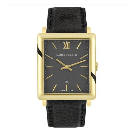 Unisex Leather Square Quartz Watches Elegant Style
