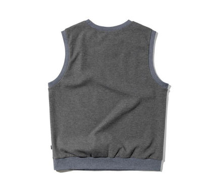 Pullovers Unisex Street Style Plain Logo Vests & Gillets