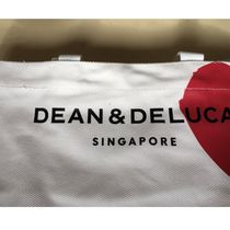 DEAN&DELUCA Casual Style Canvas Street Style Plain Logo Totes