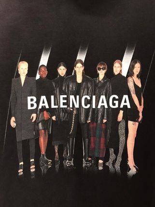 BALENCIAGA Pullovers Street Style Long Sleeves Plain Cotton Oversized