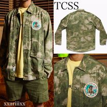 TCSS Button-down Flower Patterns Camouflage Unisex Street Style
