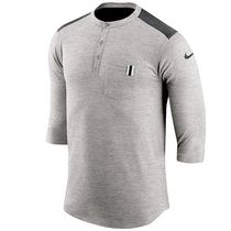 Nike Henry Neck Street Style Short Sleeves Henley T-Shirts