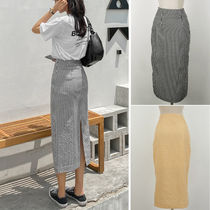 Pencil Skirts Other Plaid Patterns Casual Style Street Style