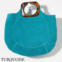 Anthropologie Casual Style Suede Street Style Plain Elegant Style Totes