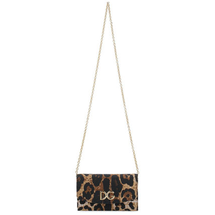 Leopard Patterns Casual Style 2WAY 3WAY Chain Party Style