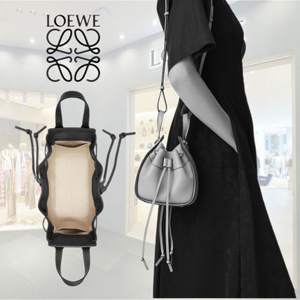 LOEWE HAMMOCK Calfskin 2WAY Purses Crossbody Logo Bucket Bags