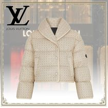 Louis Vuitton Monogram Leather Down Jackets