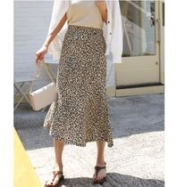 INDIBRAND Maxi Pencil Skirts Flared Skirts Leopard Patterns Casual Style 4