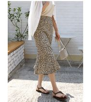 INDIBRAND Maxi Pencil Skirts Flared Skirts Leopard Patterns Casual Style 5