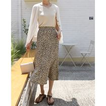 INDIBRAND Maxi Pencil Skirts Flared Skirts Leopard Patterns Casual Style 6