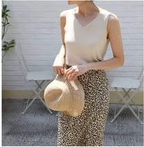 INDIBRAND Maxi Pencil Skirts Flared Skirts Leopard Patterns Casual Style 7