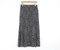 INDIBRAND Maxi Pencil Skirts Flared Skirts Leopard Patterns Casual Style 8