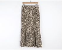 INDIBRAND Maxi Pencil Skirts Flared Skirts Leopard Patterns Casual Style 10
