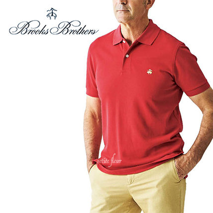 Plain Cotton Short Sleeves Logo Polos