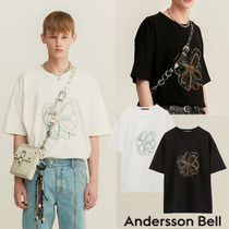 ANDERSSON BELL Crew Neck Pullovers Flower Patterns Unisex Street Style